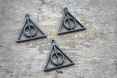 7 charms ciondoli triangolo nero Doni Della Morte Harry Potter