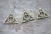12 charms ciondoli triangolo tono bronzo Doni Della Morte Harry Potter