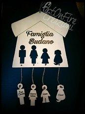 Retroporta famiglia in legno personalizzato