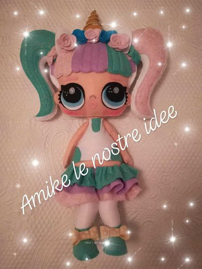 bambola lol surprise unicorn pannolenci