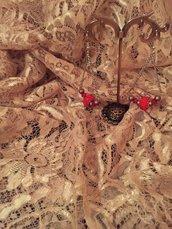 Orecchini con perle e cristalli Swarovski