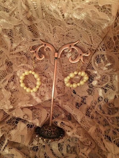 Orecchini con perle gialle  Swarovski