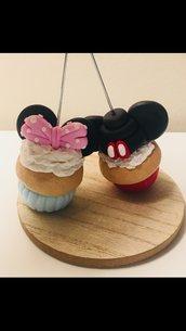 Cup Cake Minnie e Topolino  portafoto/segnaposto