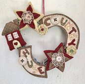 "Ghirlanda in legno a cuore ""country House"""