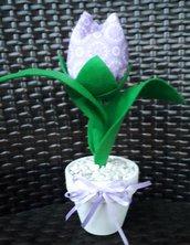 Tulipano singolo su vasetto di terracotta