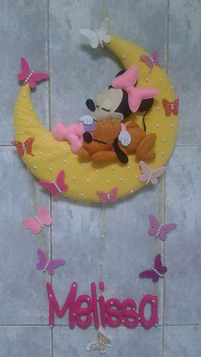 Fiocco nascita Minnie, fiocco nascita, coccarda nascita, ghirlanda nascita, cicogna nascita, fiocco nascita bimba, fiocco nascita farfalle, fiocco nascita luna, personalizzabile, regalo nascita, regalo,