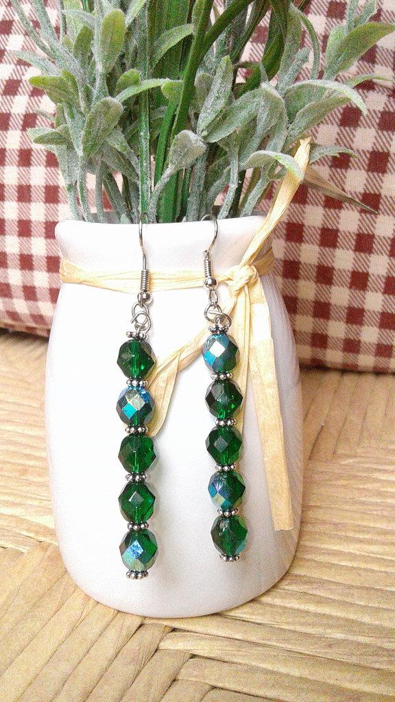 Orecchini, orecchini swarovski, orecchini pendenti swarovski, regalo per lei, per damigelle, orecchini cerimonia, orecchini in argento