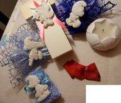 Bomboniera gesso ceramico profumato puffi