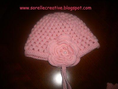 cappellino rosa baby