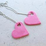 Collana cuore CUORE LOVE  ROSA fimo necklace clay Kawaii idea regalo clay
