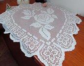 Grande centrotavola ad uncinetto a forma di cuore 80 cm x 73 cm tovaglietta cotone casa regalo per le nozze arredamento casa idea regalo