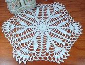 Centrino a uncinetto bianco centrotavola pizzo arredamento casa, 33 cm x 28 cm centro bianco idea regalo nozze