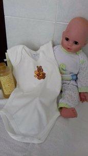 body neonato con orsetto