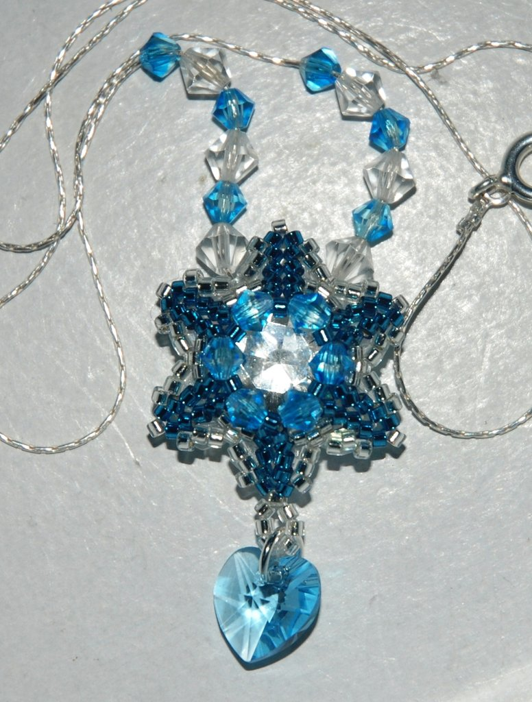 Collana argento stella 6 punte peyote