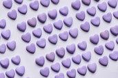 Bomboniere Cuoricini viola - lilla bimba e bimbo nascita, battesimo compleanno