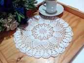 Centrino a uncinetto bianco, centrotavola, pizzo, arredamento casa, diametro 21 cm centro bianco idea regalo nozze casa home decor