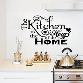 Adesivo The kitchen is the heart of the home