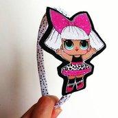 Cerchietto per capelli Lol Surprise Diva glitter