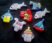 Bomboniere per battesimo di ceramica a con soggetto da neonato o piccoli animali manufatti