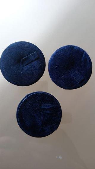 1 x espositori per anelli in velluto colore blu