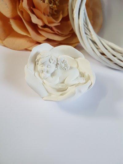 Stampo angioletto bimbo in fiore
