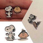 Orecchini Metallo Nichel Free Peanuts Snoopy Charlie Brown Schroeder Lucy Van Pelt Linus Shermy Patty Anallergici Fumetti Manga Cartoni Animati Anime Fantasy Pop Serie Cosplay
