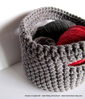 """Pattern - Spiegazione doppio uso per Portatutto o Borsetta """"clean & simple"""" a uncinetto crochet (idea regalo)"""