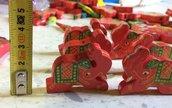 Elefante Indiano - Ciondolo Legno