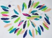 Ghirlanda di piume vere ed in feltro per decorare la tua festa a tema indiani