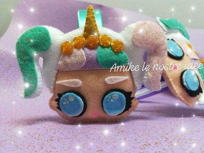 cerchietto lol surprise unicorn pannolenci