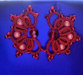 orecchini a chiacchierino con tecnica Ankars 3 cm. x 4,5 cm