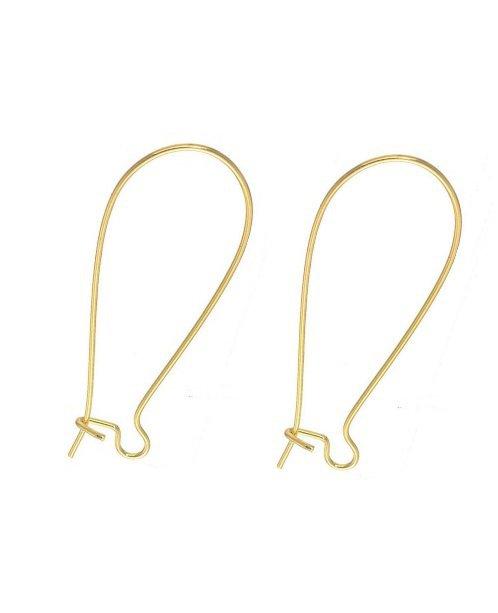 Monachelle orecchini chiuse per bigiotteria colore DORATE  (12 pezzi)