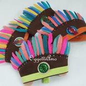 Set di 4 diversi copricapo indiani per la tua festa di compleanno a tema indiani nel far west!