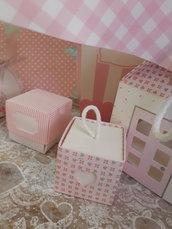 scatole cubo  portaconfetti  cm 5 x 5 x7 vari colori, vari modelli,varie misure, shabby
