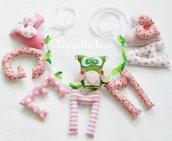 Una ghirlanda di lettere di stoffa per decorare la cameretta di Gemma: un'idea regalo per il suo compleanno, battesimo o nascita !
