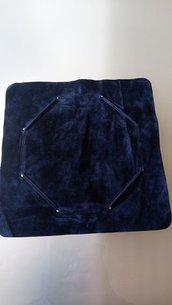 1 x sachettini in velutocolore blu  per confezioni regalo