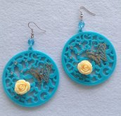 Cerchi in resina con farfalle e roselline