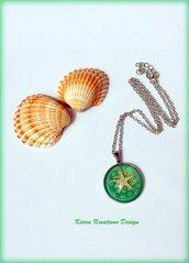 Ciondolo in resina con stella marina, ciondolo per il mare, gioielli estivi, gioielli mare, collana stella marina, matrimonio in spiaggia