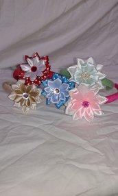 Frontini con fiori in raso