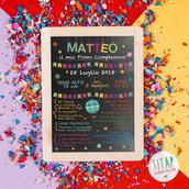 Poster Lavagna Personalizzato, Lavagna compleanno, Poster Primo Compleanno, Lavagna 1 anno, Poster ricordo