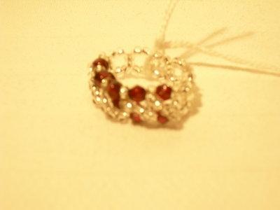 anello piccole pepite rosse