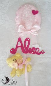 Fiocco nascita palloncino con orsetto con nome personalizzato