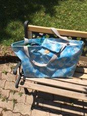 Maxi borsa mare azzurra