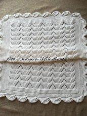 Copertina culla bianca /corredino neonato