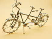 bicicletta tandem,bici tandem,regalo tandem,modello tandem,scultura tandem,bicicletta due posti,