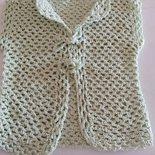Giacchina per baby in cotone e viscosa color verde chiaro