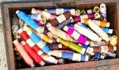 fili di seta di ogni colore
