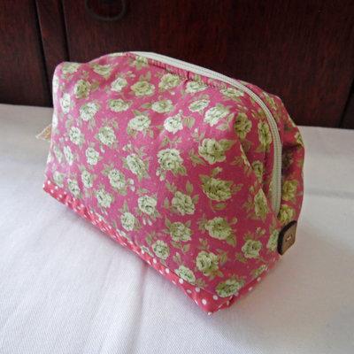 Mini bauletto da borsetta rosa a fiori