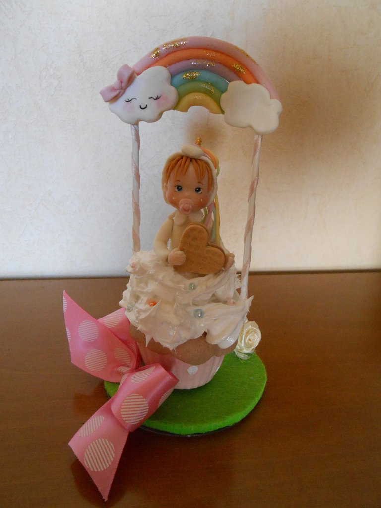 cake topper bimba unicorno