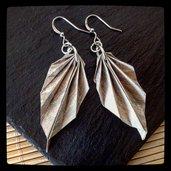 Orecchini origami Leaf